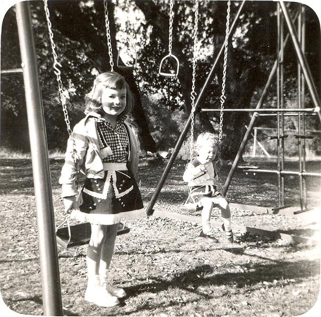 Mary and Lisa, 1952, Atascadero, CA