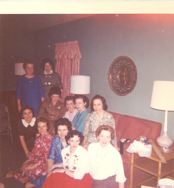 Ladies in their finery, Greenville, Illinois, about 1959