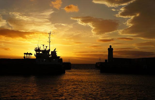 Sunset, Buckie Harbour, Moray Coast, Scotland