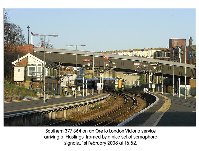 Southern Railway 377 364  - Hastings - 1.2.2008