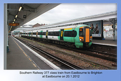 377 468 at Eastbourne 20 1 2012
