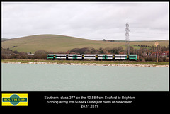 377 class north of Newhaven 26 11 2011