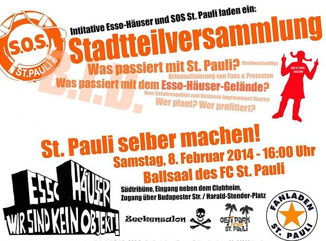 Stadtteilversammlung St. Pauli, 08. Februar 2014