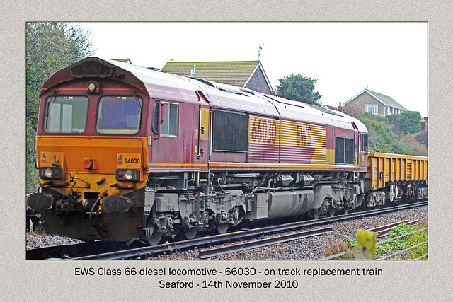 66030 - track repairs - Seaford - 14.11.2010