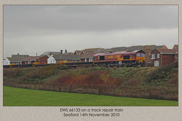 66133 on track repair duties at Seaford - 14.11.2010