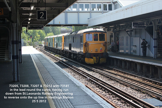 73205, 73208, 73207 & 73212 in Hastings Station 25 5 2012