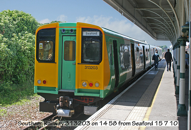 313203 on 14 58 from Seaford 15 7 10 caption