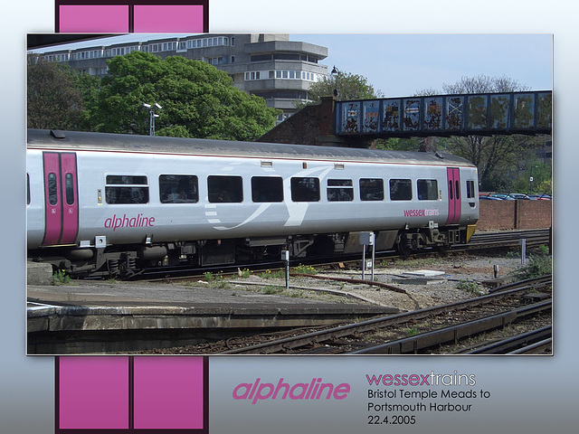 alphaline Bristol Temple Meads to Portsmouth Harbour at Southampton Central - 22.4.2005