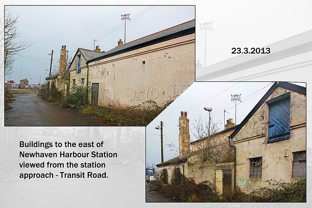 Buildings to east of Newhaven  Harbour station 23 3 2013