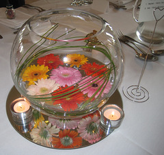 Table decoration at Craig & Kim's wedding