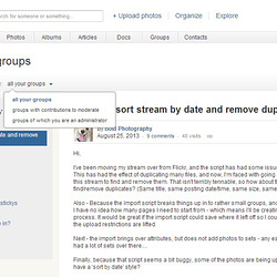 A screenshot of the group news page (beta)