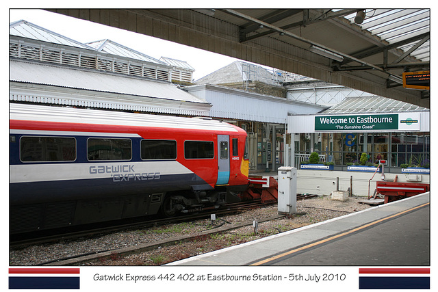 Gatwick Express 442 402 at Eastbourne 5 7 10