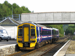 158725 leaves Dingwall heading West