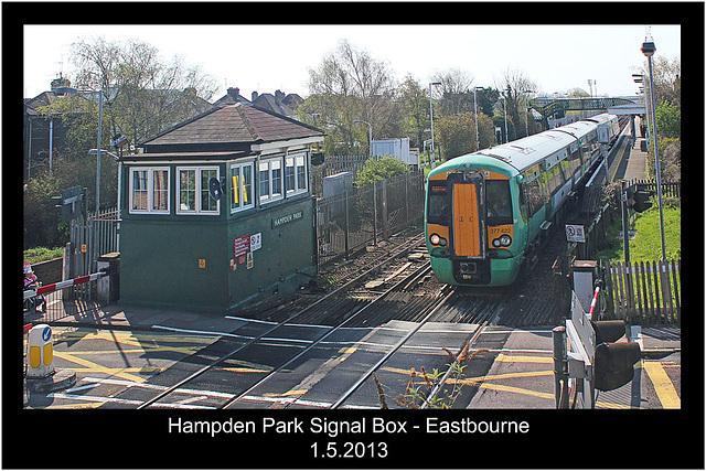 Hampden Park Signal Box - Eastbourne - 1.5.2013