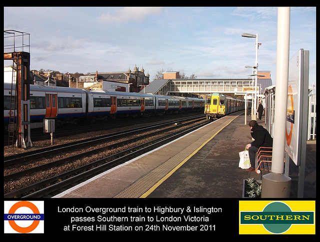 London Overground & Southern at Forest Hill 24 11 2011