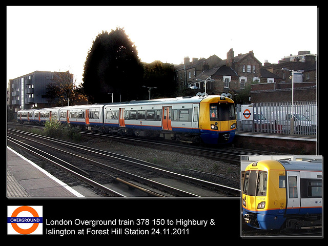 London Overground 378 150 at Forest Hill 24 11 2011
