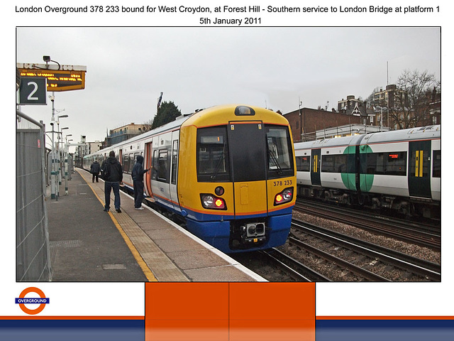 London Overground 378 233 at Forest Hill