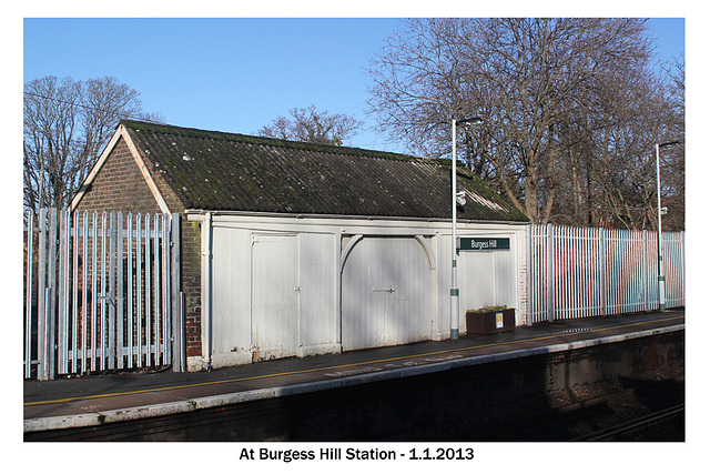 Old building at Burgess Hill Station 1 1 2013