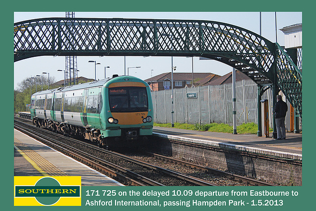 Southern 171 725 Hampden Park Eastbourne 1 5 2013