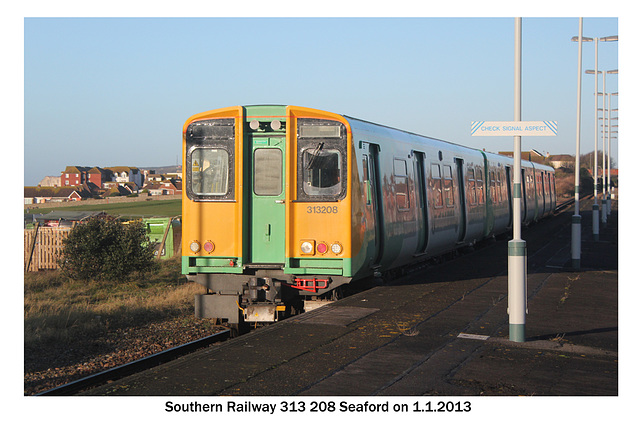 Southern 313 208 Seaford 1 1 2013