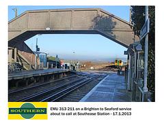 Southern 313 211 Southease 17 1 2013 down train