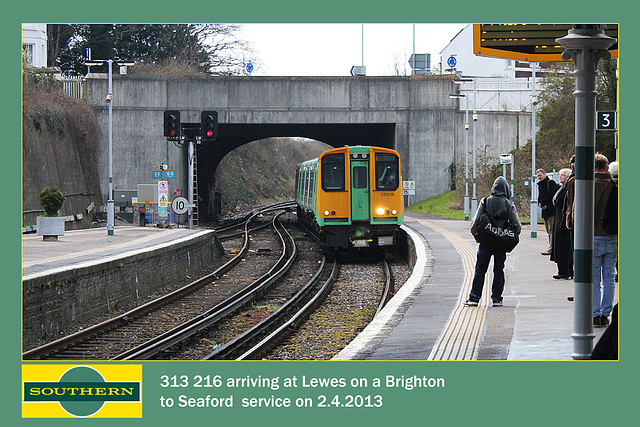 Southern 313 216 Lewes 2 4 2013
