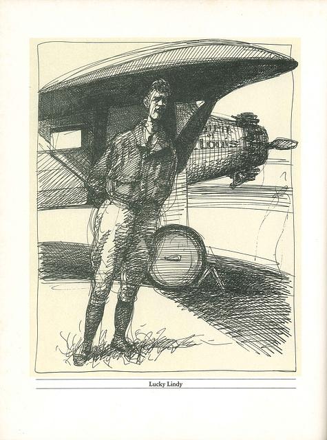 Charles Lindbergh by Edward Sorel