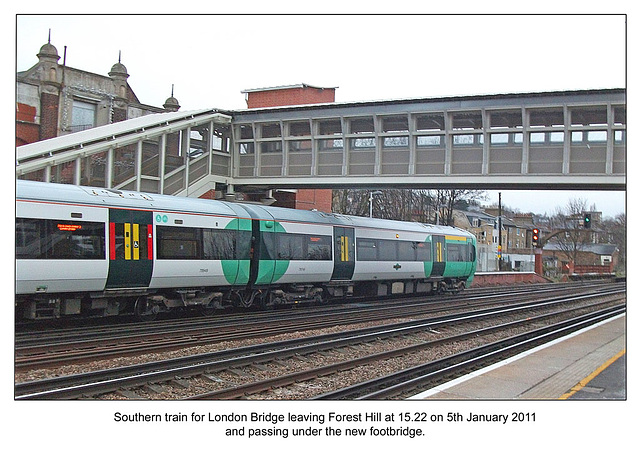 Southern train to London Bridge at Forest Hill 5 1 11