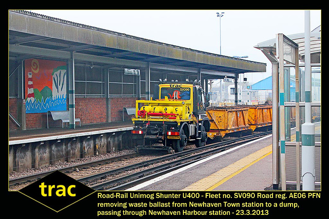 trac Unimog Shunter SV090 Newhaven Harbour station 23 3 2013 4w