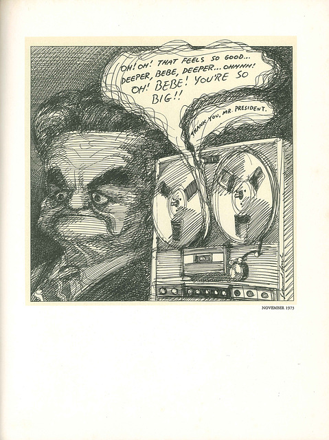 Judge John Sirica by Edward Sorel