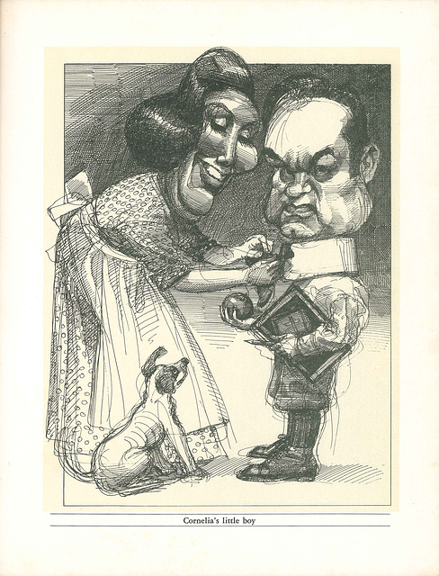 Governor  and Mrs. George Wallace by Edward Sorel
