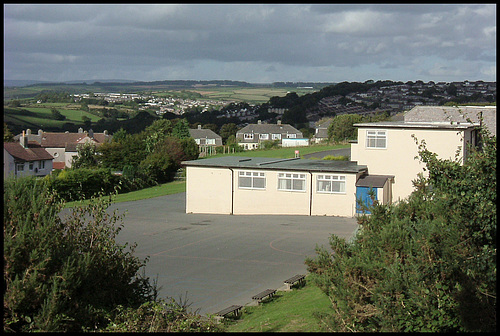 view from Ernesettle School