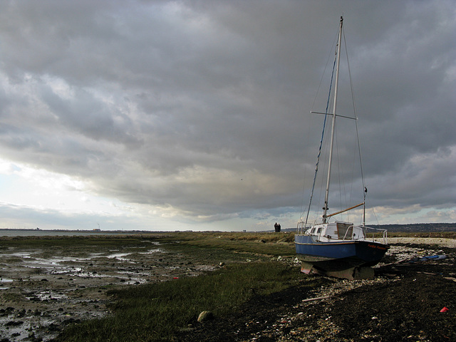 The 'Funky Floater' slipped it's mooring during January storms