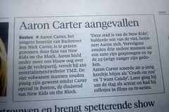 Aaron Carter attacked