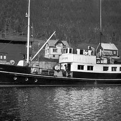 Saudafjord ved kai, Sjøtun i Kattfjord