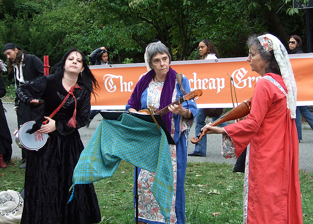 Musicians at the Fort Tryon Park Medieval Festival, October 2010