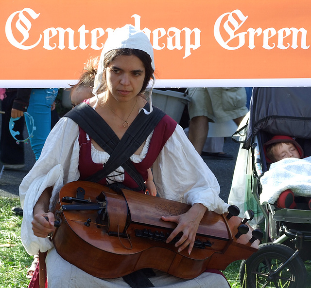 Hurdy Gurdy Player Performing at the Fort Tryon Park Medieval Festival, October 2010