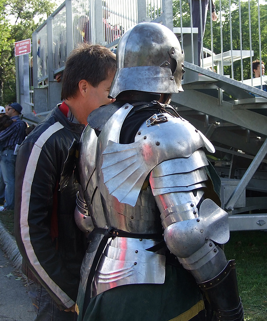 Armored Fighter at the Fort Tryon Park Medieval Festival, October 2010