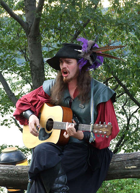 Guitarist Performing at the Fort Tryon Park Medieval Festival, October 2010