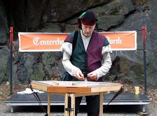 Percussionist at the Fort Tryon Park Medieval Festival, October 2010