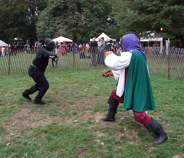 Fencing at the Fort Tryon Park Medieval Festival, October 2010