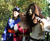 Branimira, the Lion and a Festival Goer at the Fort Tryon Park Medieval Festival, October 2010