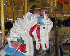 Carousel Pony with Roses - Detail