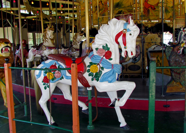 Carousel Pony with Roses