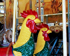 Carousel Roosters