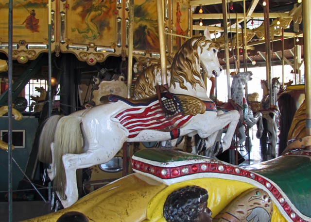 Carousel Pony with Flag