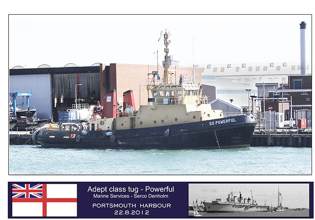 Adept class tug Powerful - Portsmouth - 22.8.2012