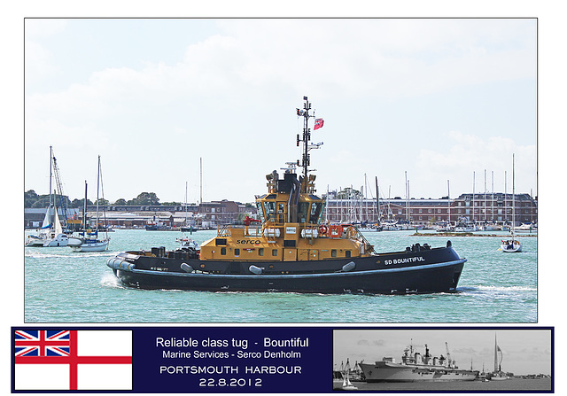 Bountiful Reliable class tug Portsmouth 22 8 12