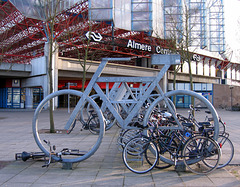 Bicycle Parking, Almere Centrum Railway Station, The Netherlands