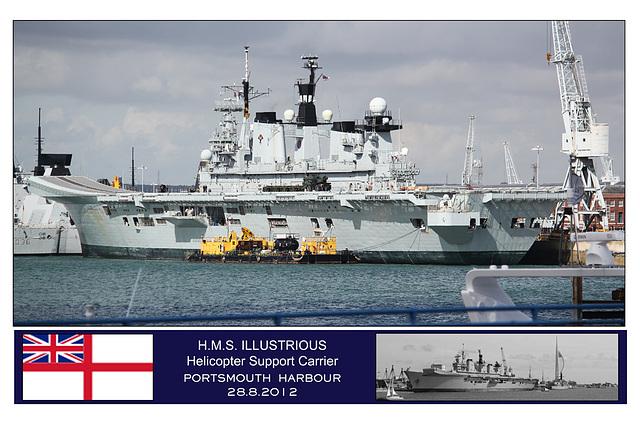 HMS Illustrious - Portsmouth - 28.8.2012
